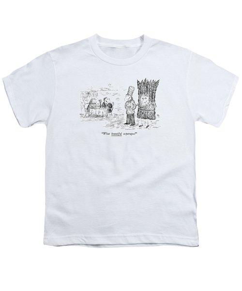 What Beautiful Asparagus! Youth T-Shirt by Edward Koren