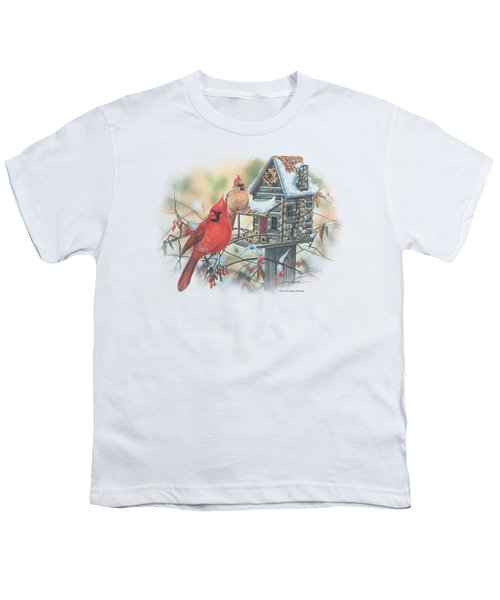 Wildlife - Cardinals Rustic Retreat Youth T-Shirt