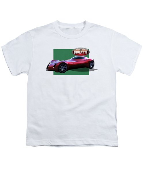 2025 Bugatti Aerolithe Concept With 3 D Badge  Youth T-Shirt by Serge Averbukh