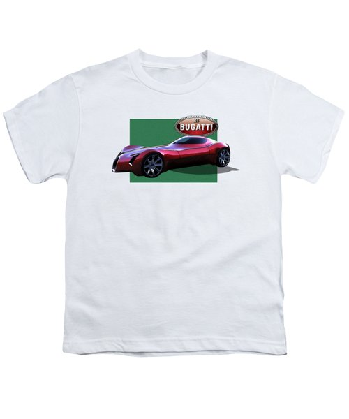 2025 Bugatti Aerolithe Concept With 3 D Badge  Youth T-Shirt