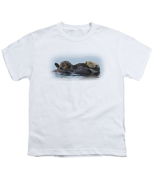 A Mama Sea Otter And Her Babe Youth T-Shirt