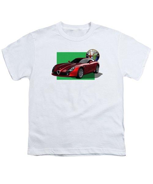 Alfa Romeo Zagato  T Z 3  Stradale With 3 D Badge  Youth T-Shirt