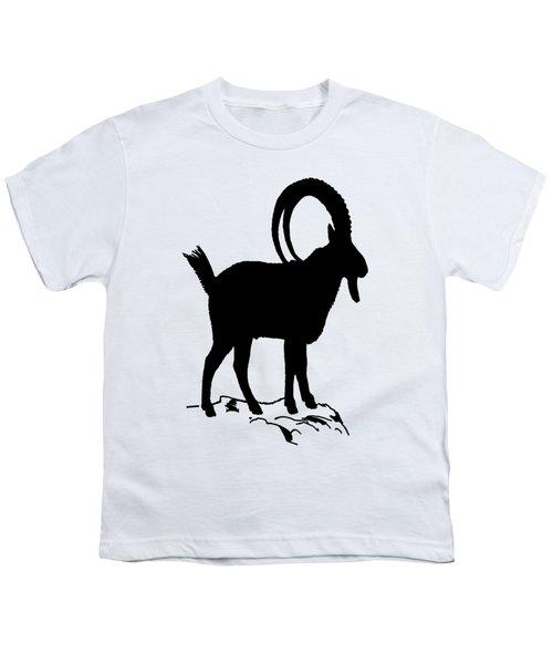 Alpine Ibex Youth T-Shirt by Mordax Furittus