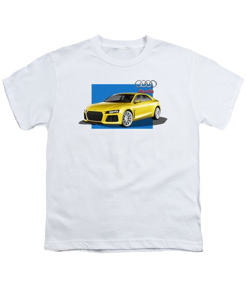 Audi Sport Quattro Concept With 3 D Badge  Youth T-Shirt by Serge Averbukh