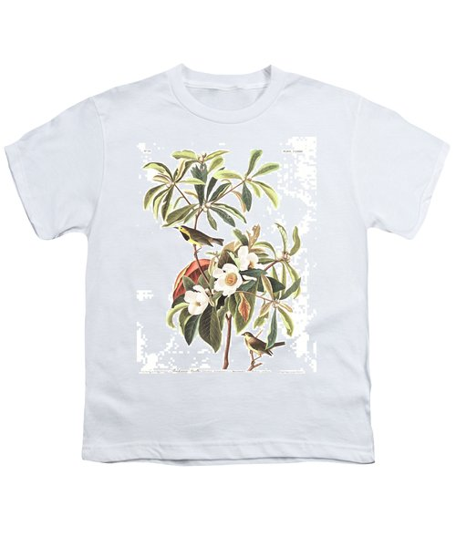 Bachman's Warbler  Youth T-Shirt by John James Audubon