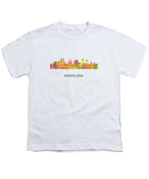 Barcelona Spain Skyline Youth T-Shirt