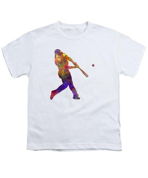 Baseball Player Hitting A Ball Youth T-Shirt