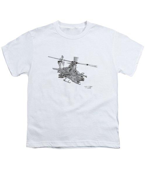 Bell Ah-1z Viper Youth T-Shirt by Arthur Eggers