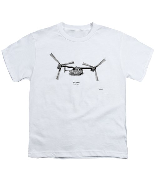 Bell Boeing Cv-22b Osprey Youth T-Shirt by Arthur Eggers