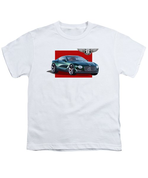 Bentley E X P  10 Speed 6 With  3 D  Badge  Youth T-Shirt