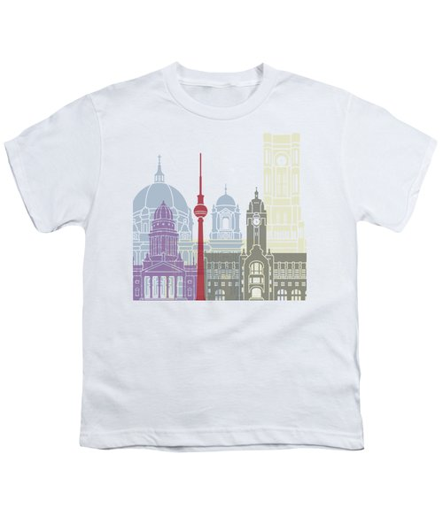 Berlin Skyline Poster Youth T-Shirt
