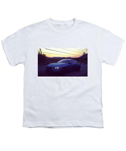 #bmw #m4 #sunset #desert #driveclub Youth T-Shirt