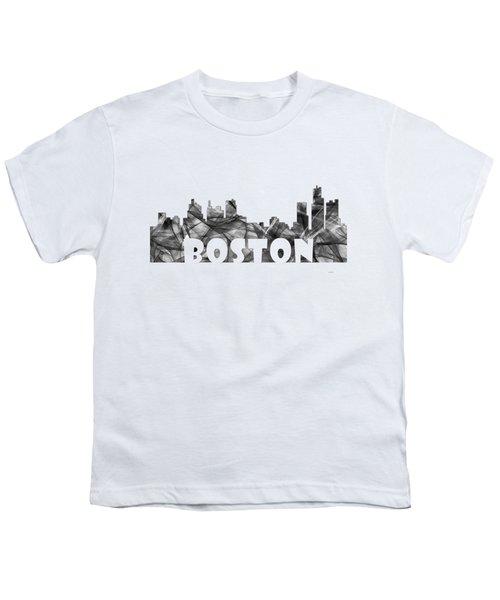 Boston Massachusetts Skyline Youth T-Shirt