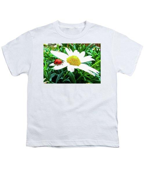 Daisy Flower And Ladybug Youth T-Shirt