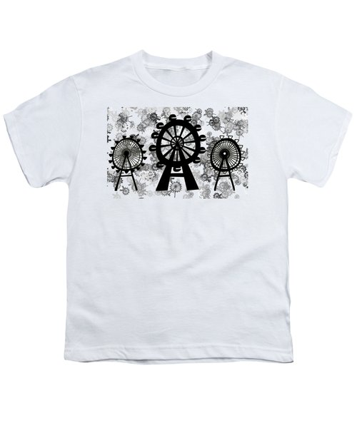 Ferris Wheel - London Eye Youth T-Shirt by Michal Boubin