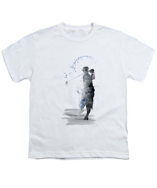 Golfer Youth T-Shirt by Marlene Watson