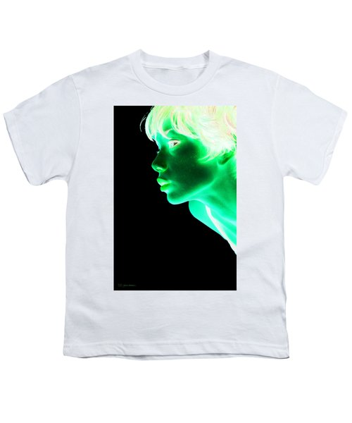 Inverted Realities - Green  Youth T-Shirt by Serge Averbukh