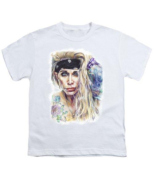 Lixxi Foxx Steel Panther Youth T-Shirt by Inna Volvak