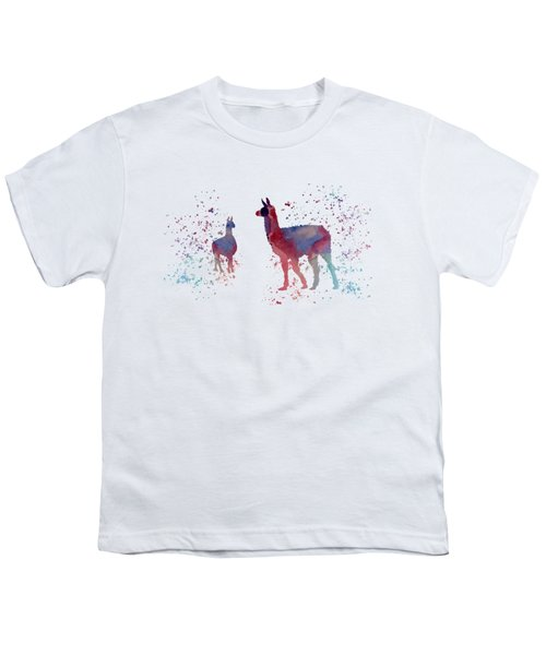 Llamas Youth T-Shirt by Mordax Furittus