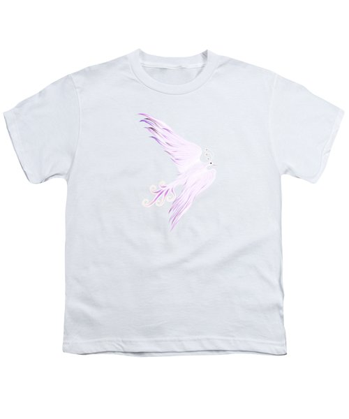 Magical Phoenix Bird Artistic Design Youth T-Shirt by Awen Fine Art Prints