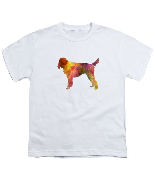 Medium Griffon Vendeen In Watercolor Youth T-Shirt by Pablo Romero