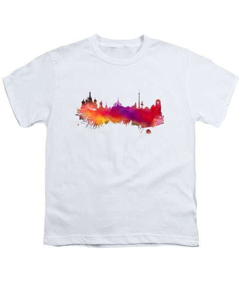 Moscow Skyline Youth T-Shirt by Justyna JBJart