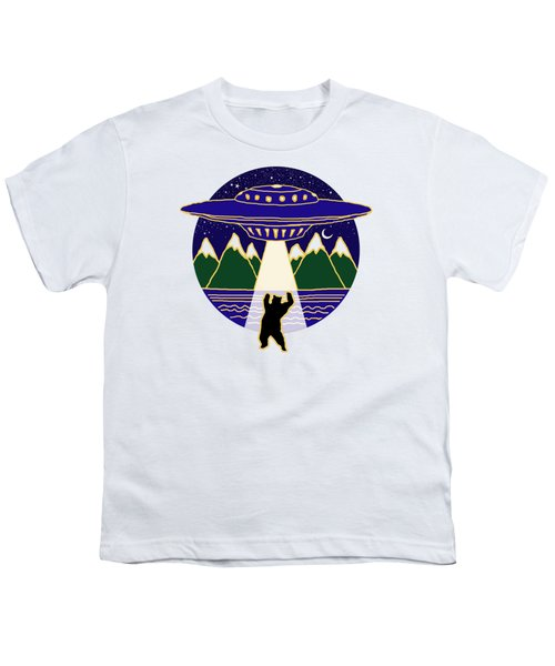 Mothership Takes Bear Youth T-Shirt by Holly Douglas