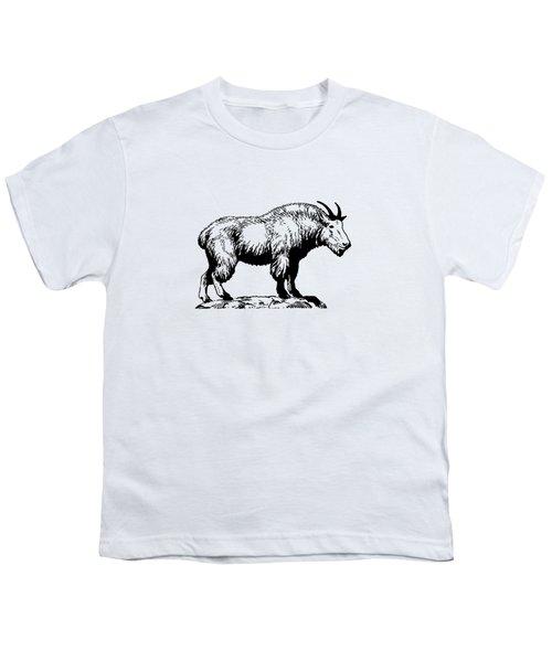 Mountain Goat Youth T-Shirt by Mordax Furittus