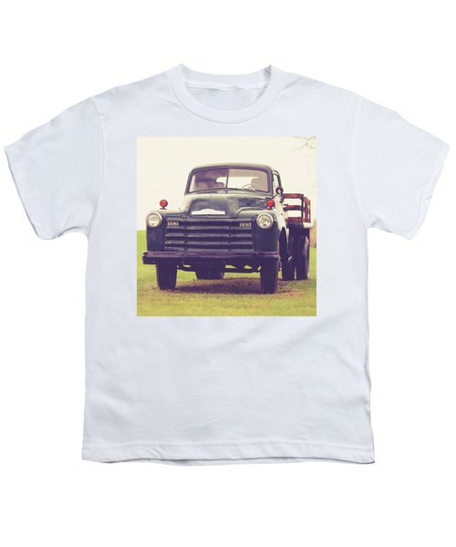 Old Chevy Farm Truck In Vermont Square Youth T-Shirt