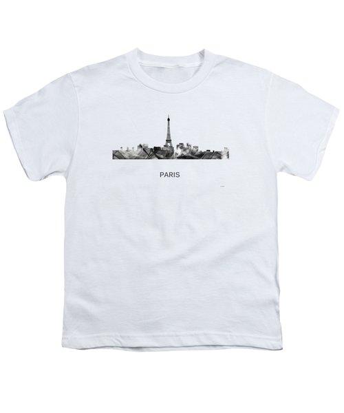 Paris France Skyline Youth T-Shirt