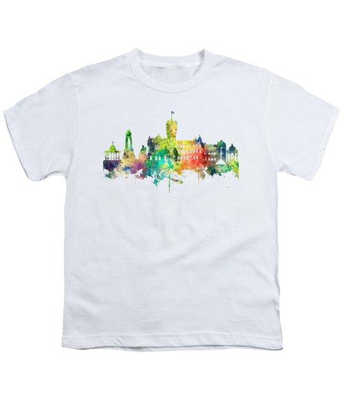 Rutherglen Scotland Skyline Youth T-Shirt by Marlene Watson