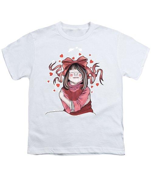 Selfie Youth T-Shirt by Deadcharming Art