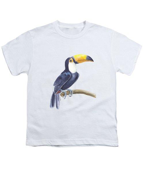 Toucan, Tropical Bird Youth T-Shirt by Katerina Kirilova
