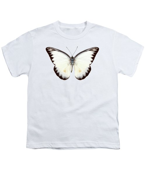White Butterfly Species Appias Lyncida Youth T-Shirt
