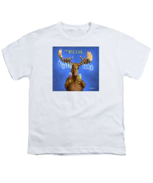 Wine Rack... Youth T-Shirt by Will Bullas