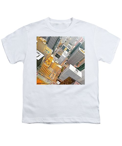 Yesterday's #birdseyeview Of #downtown Youth T-Shirt
