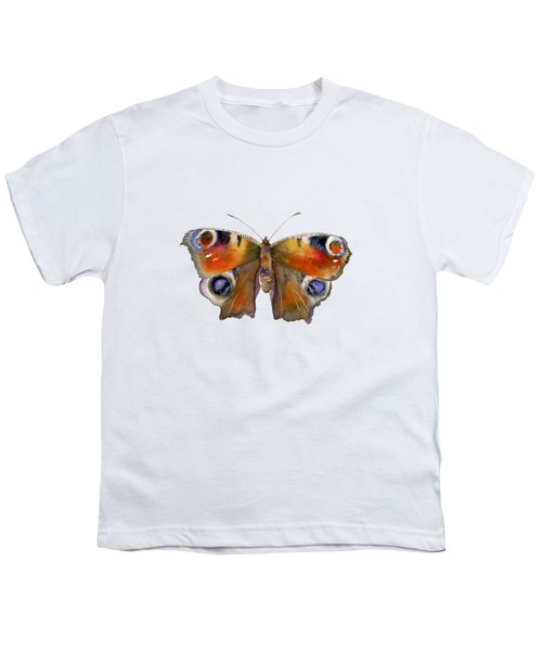 10 Peacock Butterfly Youth T-Shirt
