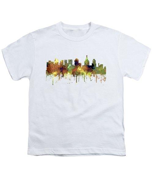 Philadelphia Pennsylvania Skyline Youth T-Shirt by Marlene Watson