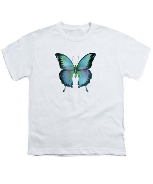 12 Blue Emperor Butterfly Youth T-Shirt
