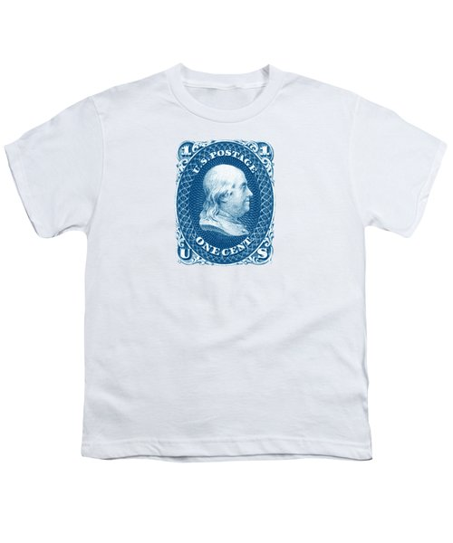 1861 Benjamin Franklin Stamp Youth T-Shirt by Historic Image
