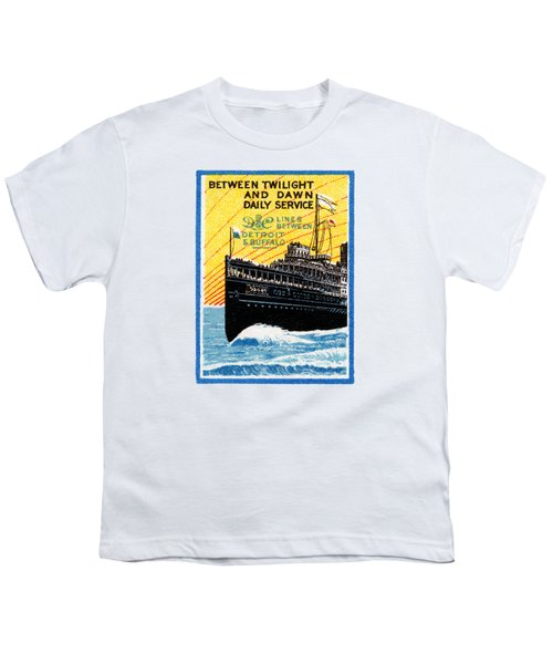 1910 Detroit To Buffalo Steamship Youth T-Shirt