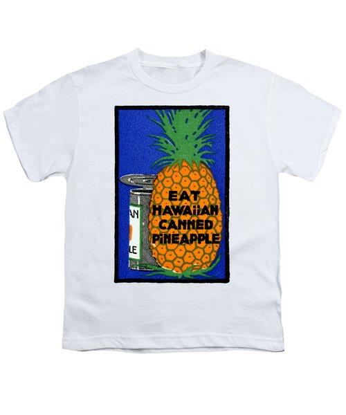 1915 Eat Hawaiian Pineapple Poster Youth T-Shirt
