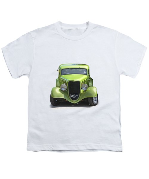 1934 Ford Street Hot Rod On A Transparent Background Youth T-Shirt