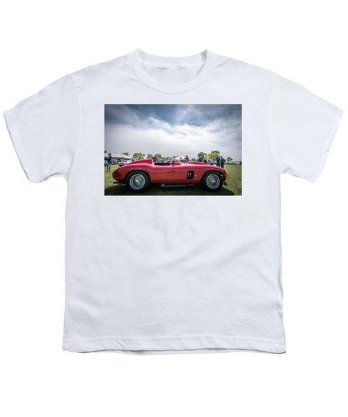 Youth T-Shirt featuring the photograph 1956 Ferrari 290mm by Randy Scherkenbach