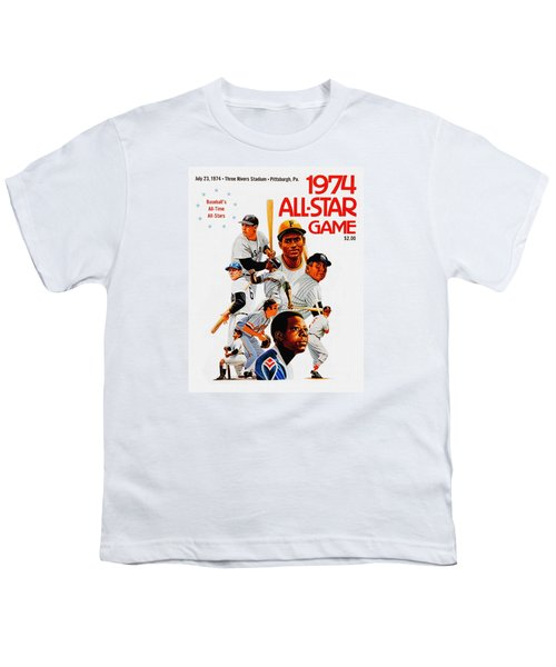 1974 Baseball All Star Game Program Youth T-Shirt