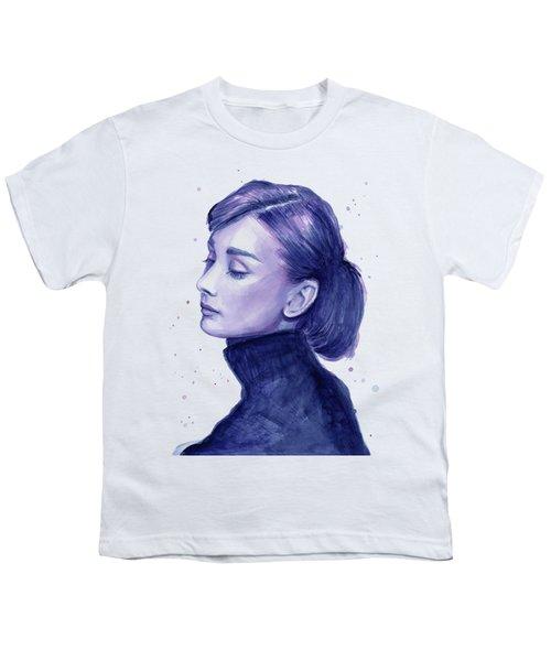 Audrey Hepburn Portrait Youth T-Shirt