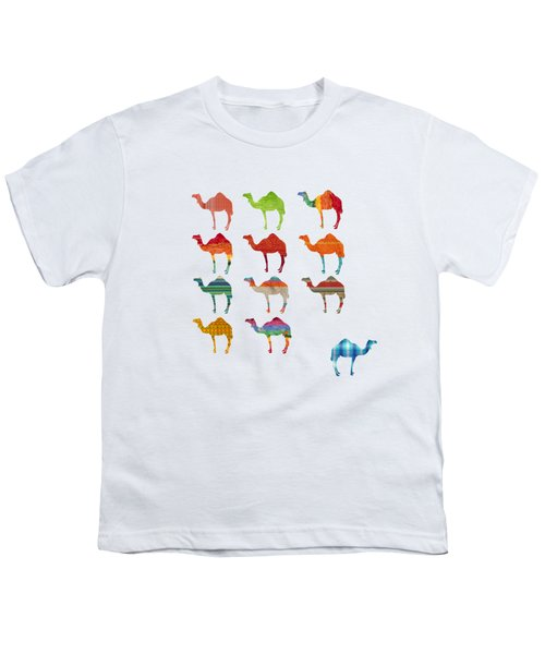 Camels Youth T-Shirt by Art Spectrum