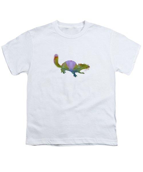 Chipmunk Youth T-Shirt by Mordax Furittus
