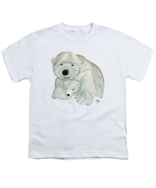 Cuddly Polar Bear Youth T-Shirt