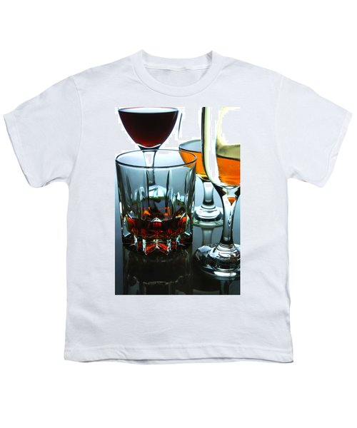 Drinks Youth T-Shirt by Jun Pinzon